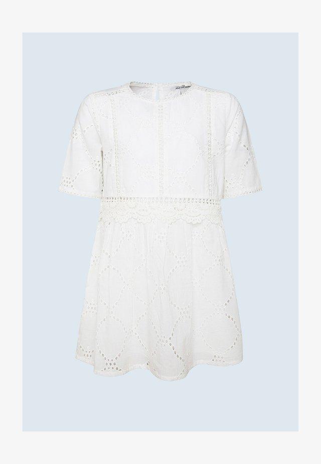 LUNA - Korte jurk - optic weiss