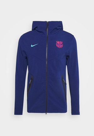 FC BARCELONA HOODIE - Klubové oblečení - blue void/oracle aqua