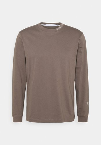 TAPING  - Long sleeved top - dusty brown