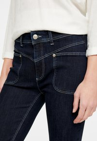comma casual identity - Straight leg jeans - dark blue - 3