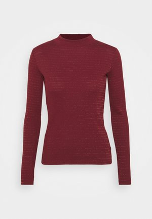 HI NECK TEE - Long sleeved top - red ochre