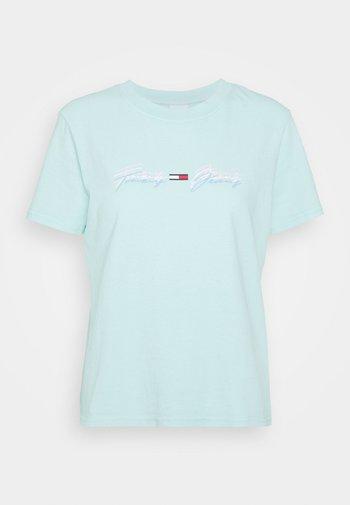 LINEAR LOGO TEE - T-shirts print - aqua coast