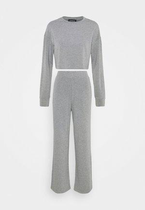 SWEAT SET WIDE LEG TROUSER - Tepláková souprava - mottled grey