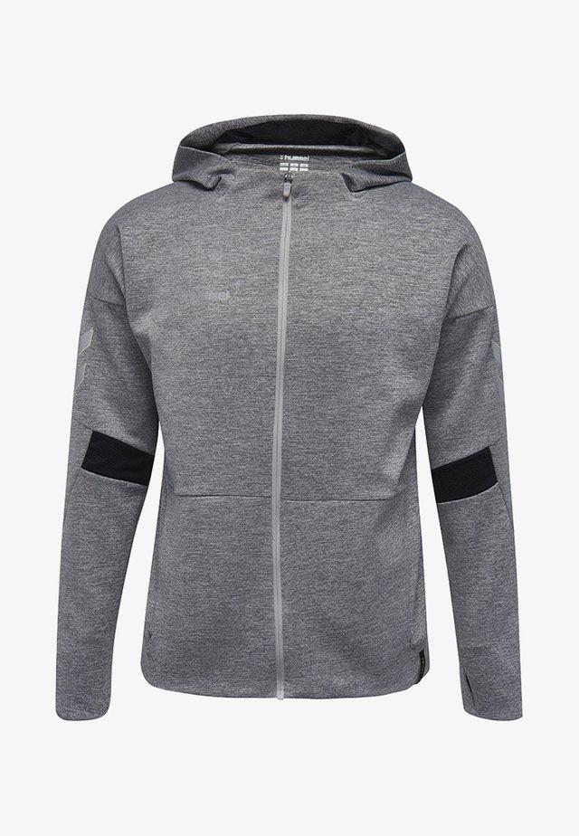 TECH MOVE ZIP HOOD - Training jacket - grey melange