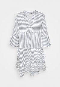 Vero Moda Tall - VMHELI 3/4 SHORT DRESS TALL - Day dress - snow white/navy blazer - 0