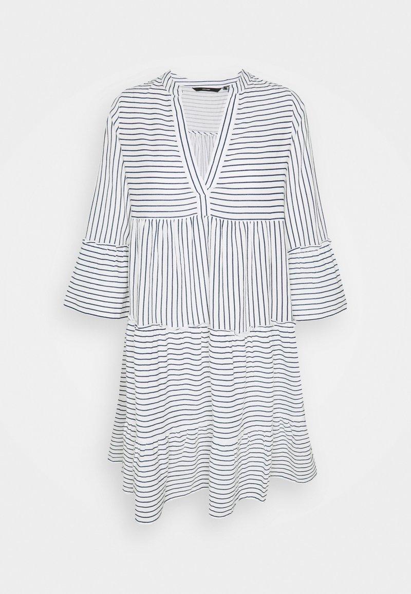 Vero Moda Tall - VMHELI 3/4 SHORT DRESS TALL - Day dress - snow white/navy blazer