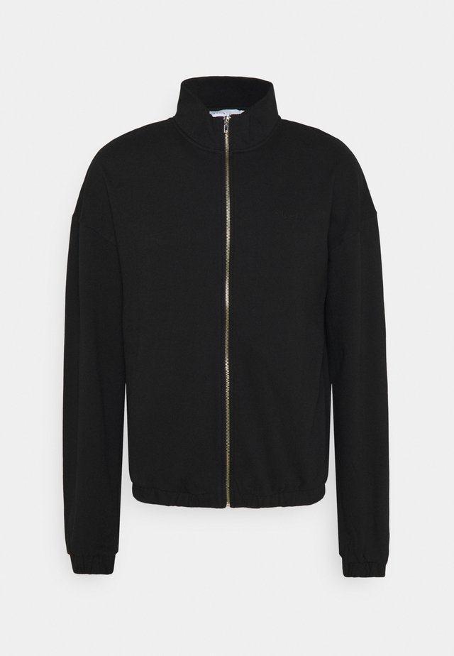 ZIP UP TRACK - veste en sweat zippée - black