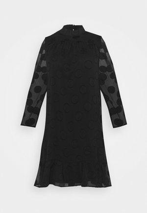 HIGH NECK FRILL HEM DRESS - Vestido informal - black