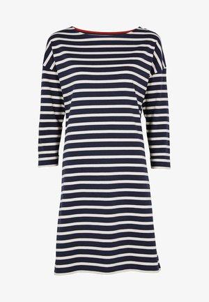 ROSIE - Jersey dress - navy/naturweiß
