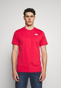 The North Face - REDBOX TEE - T-shirt con stampa - rococco red - 0