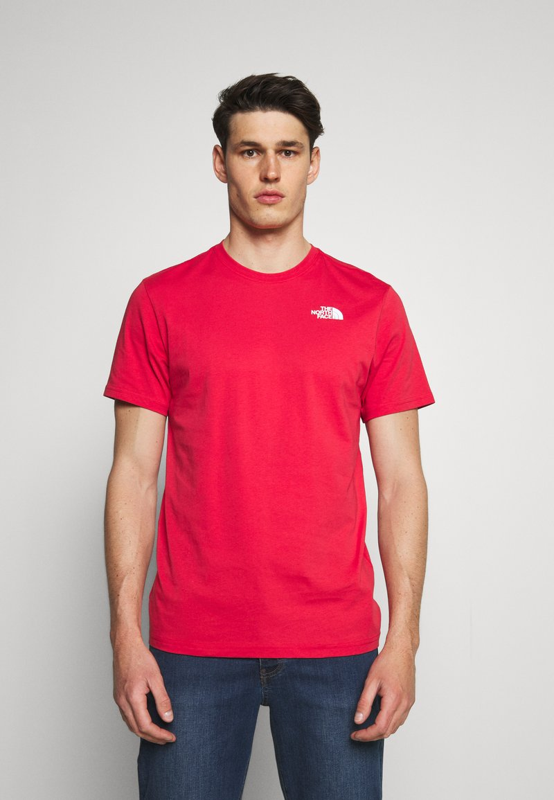 The North Face - REDBOX TEE - T-shirt con stampa - rococco red