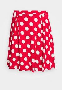 Even&Odd - A-snit nederdel/ A-formede nederdele - goji berry/white - 4