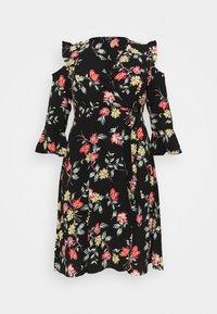 Simply Be - WRAP DRESS - Day dress - black - 4