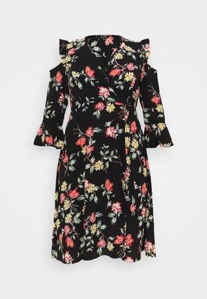 WRAP DRESS - Day dress - black