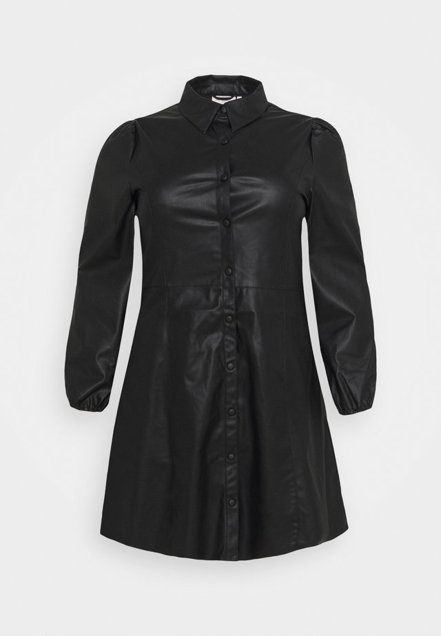 CARDIDDI DRESS - Vestido camisero - black