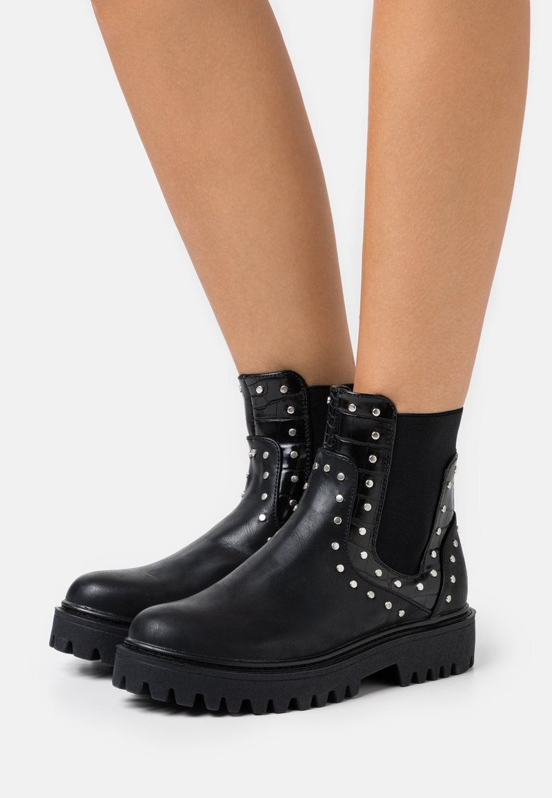 Even&Odd Wide Fit - Kotníkové boty - black