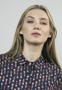 Brava Fabrics - KOKESHI - Button-down blouse - blue - 3