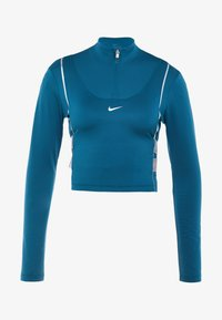 Nike Performance - HYPERWARM - Treningsskjorter - midnight turquoise/metallic silver - 5