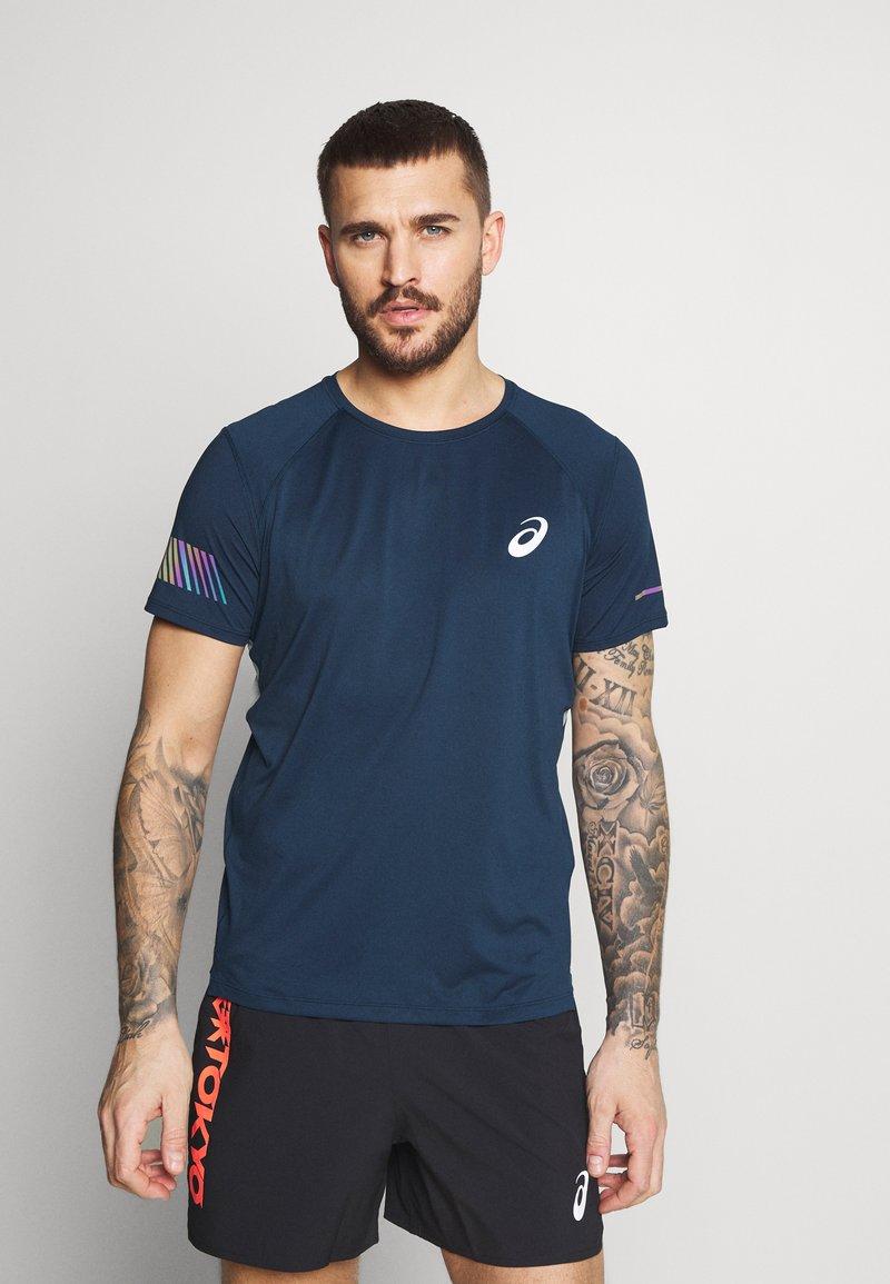 ASICS - VISIBILITY - Camiseta estampada - french blue/smoke blue
