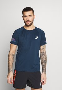 ASICS - VISIBILITY - Print T-shirt - french blue/smoke blue - 0