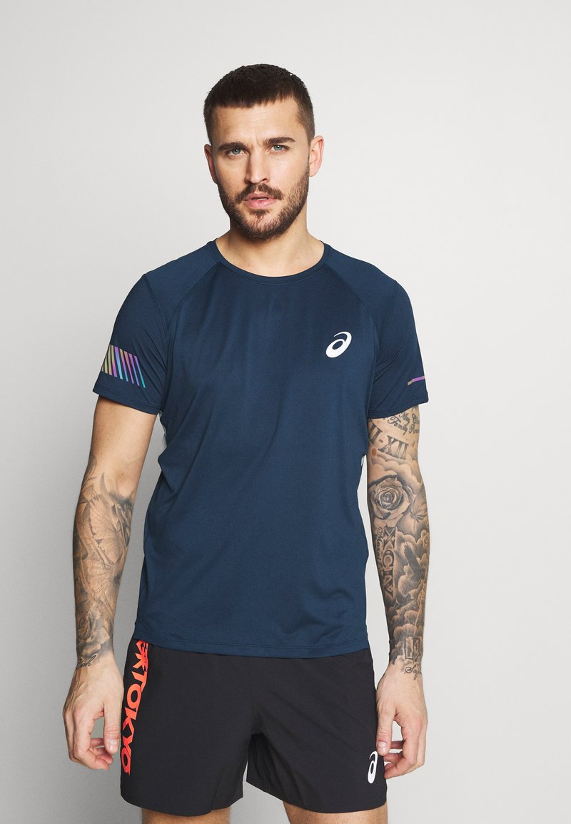 ASICS - VISIBILITY - Print T-shirt - french blue/smoke blue