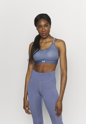 INFINITY MID BRA - Medium support sports bra - mineral blue