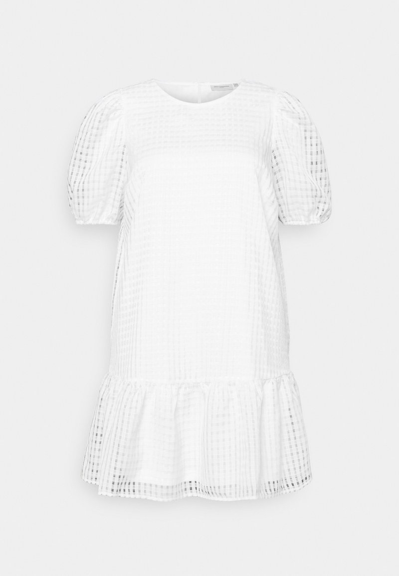 ONLY Carmakoma - CARELANA KNEE DRESS - Day dress - white