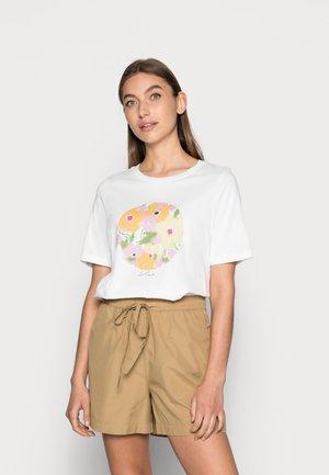 SLFKINJA TEE - T-shirts med print - snow white