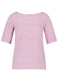Gerry Weber - 1/2 ARM - Print T-shirt - ecru/weiss/lila/pink ringel - 4
