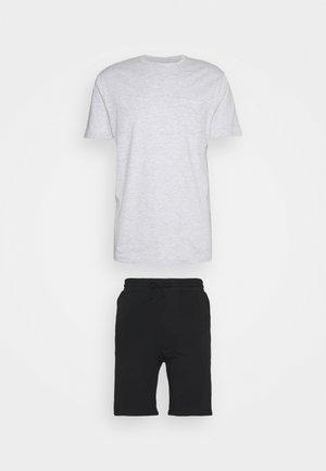 SET - Pyjama set - mottled grey/black
