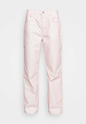 SPECTRE - Straight leg -farkut - pink/beige