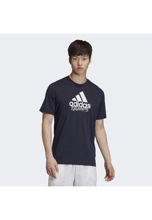 MEN TENNIS GRAPHIC LOGO T-SHIRT - T-Shirt print - blue