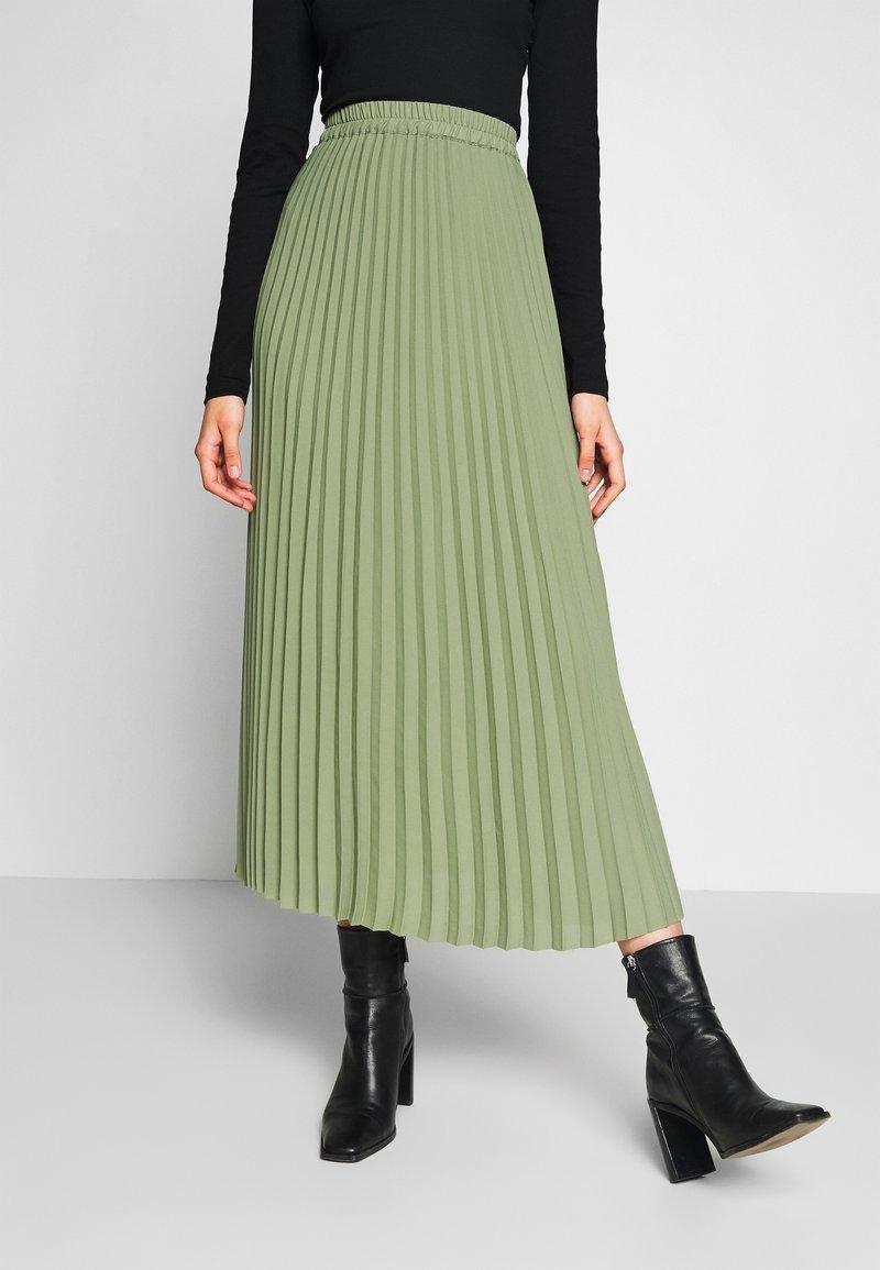 Selected Femme Tall - SLFJOSIE MIDI SKIRT - A-line skjørt - oil green