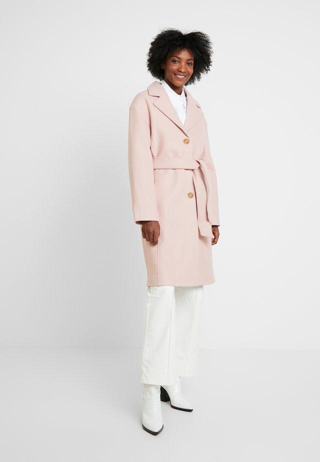 Płaszcz wełniany /Płaszcz klasyczny - pale mauve