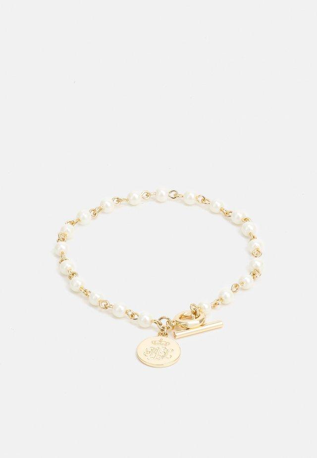 LOGO FLEX - Bracelet - gold-coloured/white
