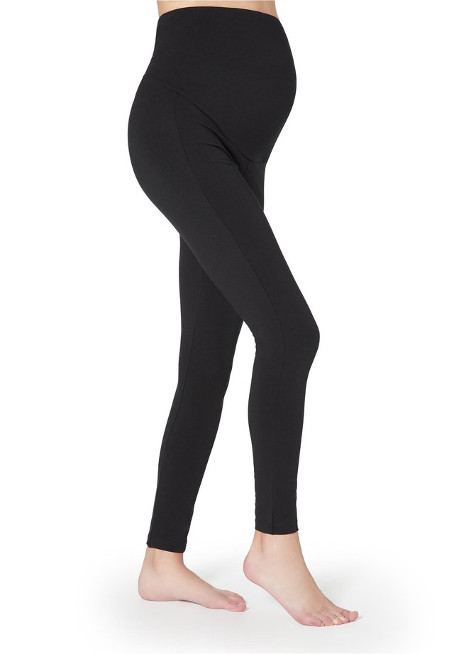 MATERNITY BAUMWOLLLEGGINGS - Leggings - Stockings - nero