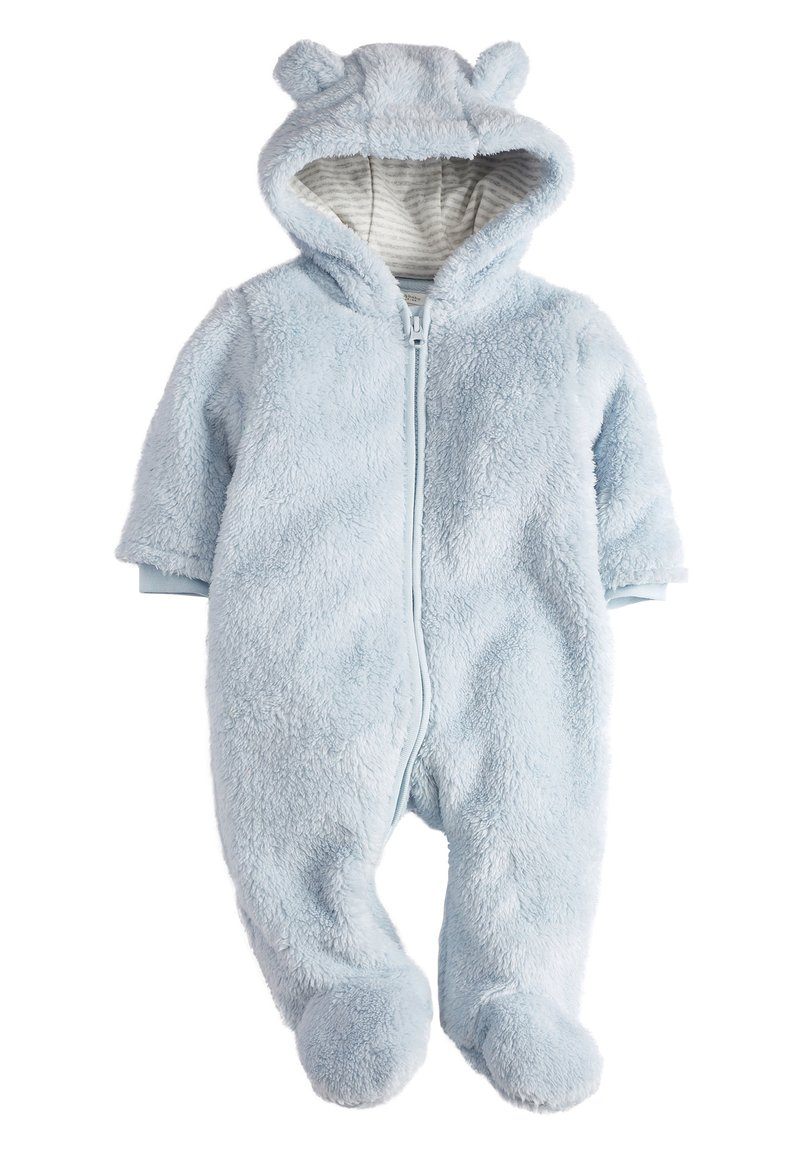 Next - BLUE COSY FLEECE BEAR PRAMSUIT (0MTHS-2YRS) - Pyjama - blue