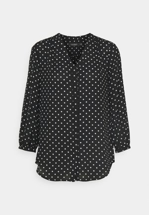 DRAPEY - Blouse - black/white