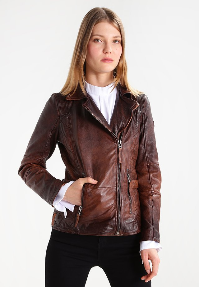 ADVANCE LATEOV - Lederjacke - vintage brown