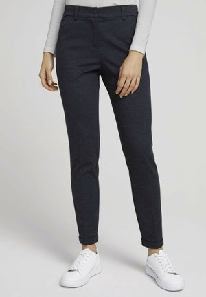 Trousers - navy twill structure