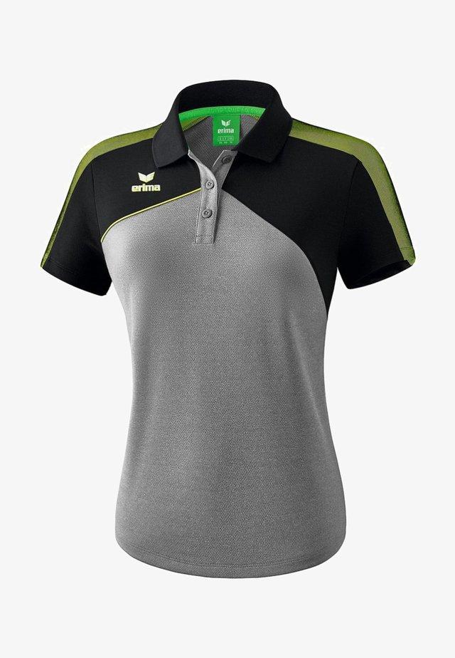 PREMIUM ONE 2.0 POLOSHIRT DAMEN - Polo shirt - grau / schwarz