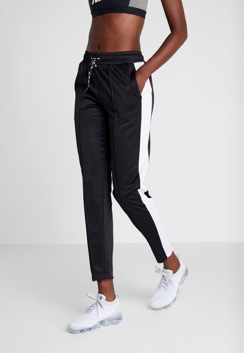 Fila - TRACK PANTS - Spodnie treningowe - black/bright white