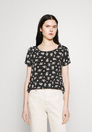 VMSAGA - T-shirt con stampa - black/dara