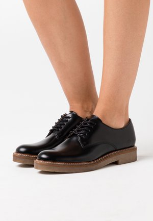 OXFORK - Lace-ups - flat black