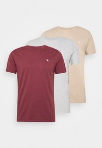 Abercrombie & Fitch - FALL SEASONAL 3PACK  - T-shirts print - red/grey/gold - 5