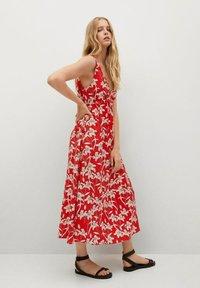 Mango - Day dress - rojo - 3