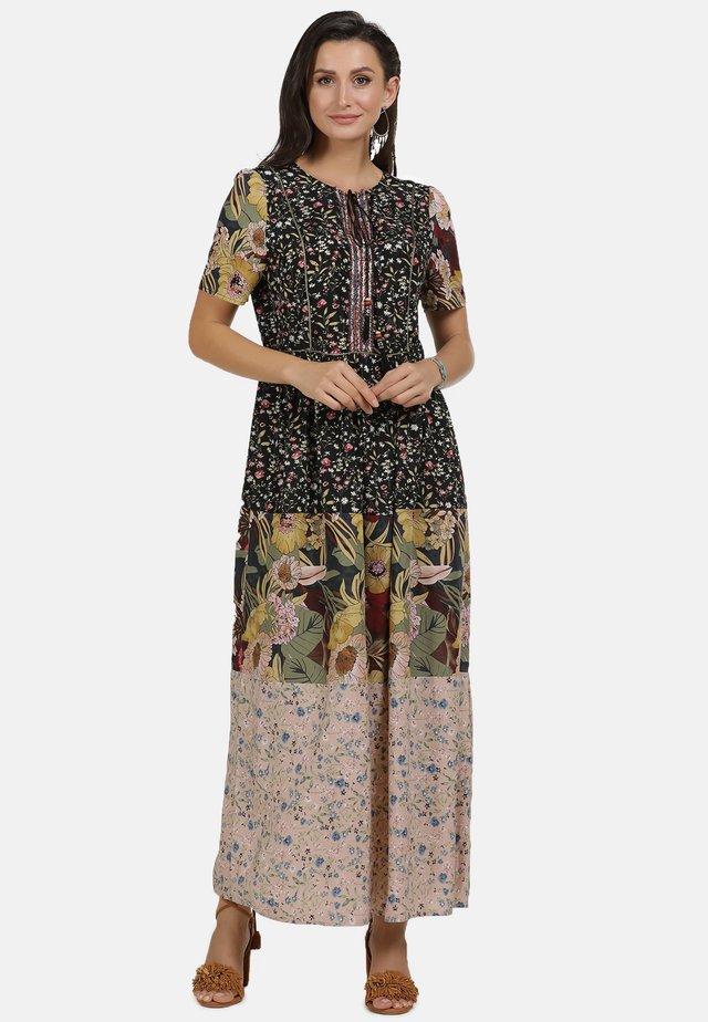 Vestito lungo - multi flower print