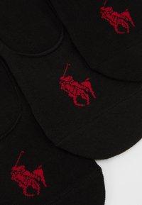 Polo Ralph Lauren - LINER NO SHOW 3 PACK - Trainer socks - black - 2
