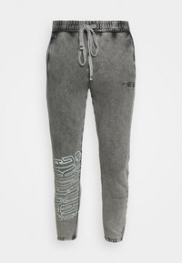 The Couture Club - COUTURE WAVE PRINT RELAXED JOGGER - Tracksuit bottoms - grey acid wash - 3