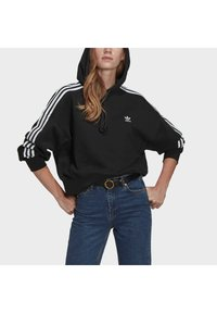 adidas Originals - SHORT HOODIE - Hoodie - black - 3